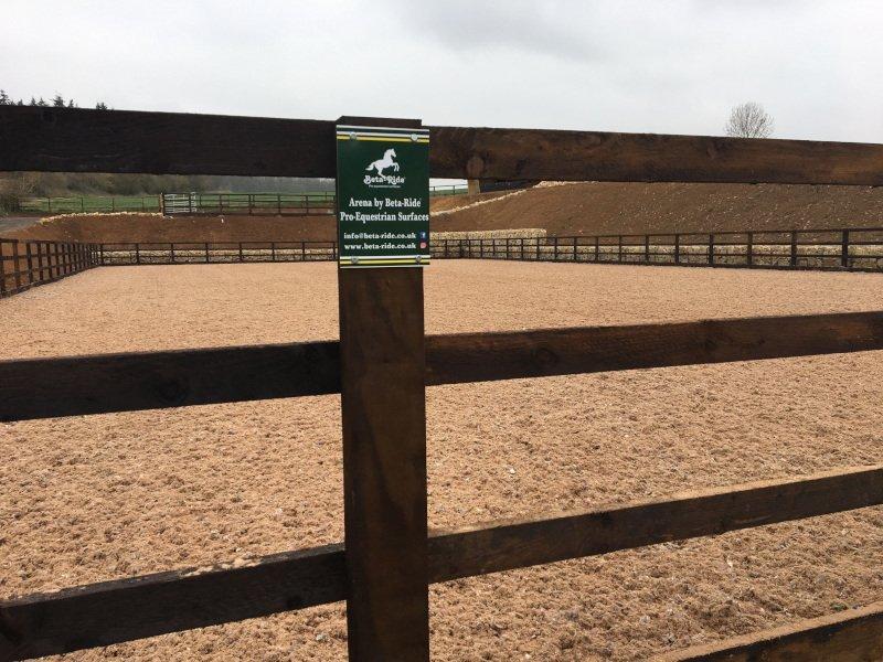 Beta-Ride Equestrian Arena Surfaces - Arena Installation