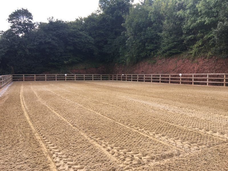 Equestrian Arena with Beta-Ride sand & fibre arena surface