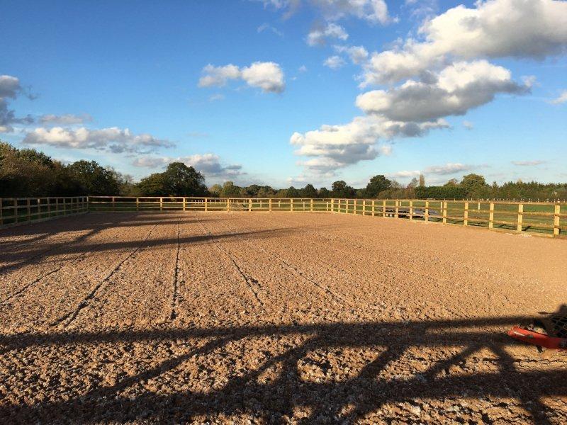 Beta-Ride Equestrian Arena Surfaces - Sand & Carpet Fibre Arena Surface Installation