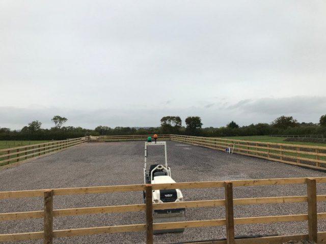 Beta-Ride Woolstone Equestrian Arena Build