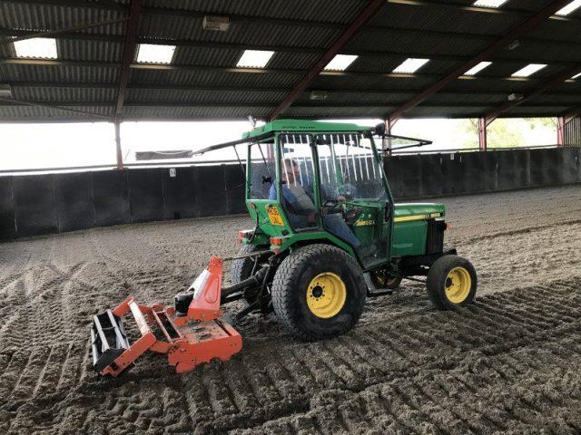 Woolstone Indoor arena refurb - sand & fibre arena surface