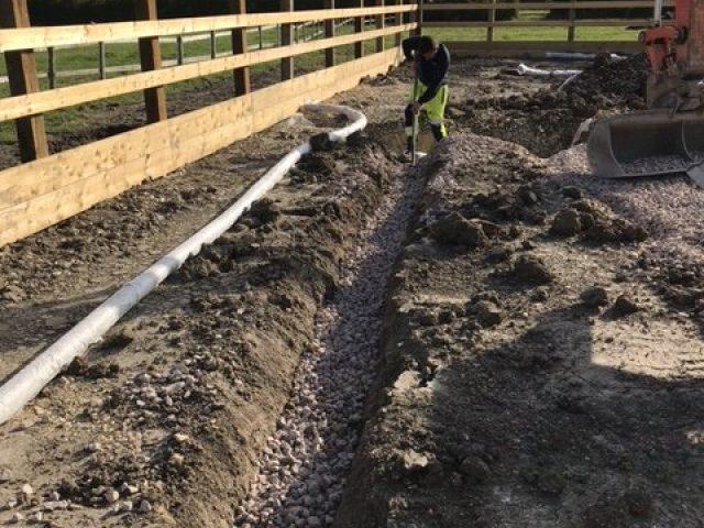 Woolstone Equestrian Arena Build Drainage